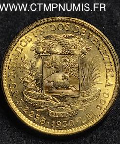 VENEZUELA 10 BOLIVARES OR 1930