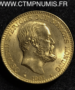 ,SUEDE,10,KRONOR,OR,OSCAR,II,1901,SPL,