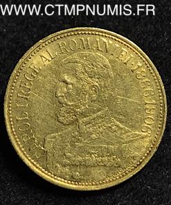 ,ROUMANIE,12,1/2,LEI,OR,CAROL,I°,1906,