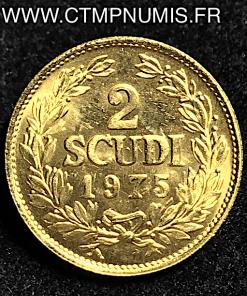 ,ITALIE,SAN,MARIN,2,SCUDI,OR,1975,SPL,