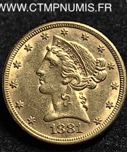 USA,5,DOLLAR,OR,HALF,EAGLES,1881