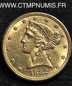 USA,5,DOLLAR,OR,HALF,EAGLES,1882