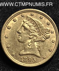 USA,5,DOLLAR,OR,HALF,EAGLES,1895
