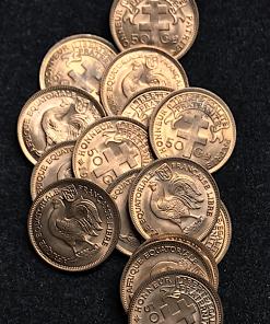 ,50,CENTIMES,1943,SPL,AFRIQUE,EQUATORIALE,