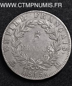 5 FRANCS ARGENT CENT-JOURS 1815 TOULOUSE