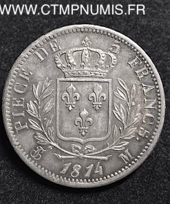 5 FRANCS ARGENT BUSTE HABILLE 1814 TOULOUSE