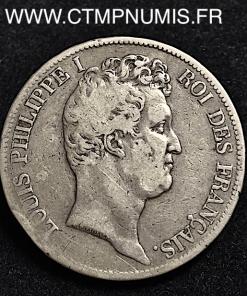 5 FRANCS ARGENTLOUIS PHILIPPE I° 1830 TOULOUSE