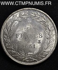 5 FRANCS ARGENTLOUIS PHILIPPE I° 1831 M TOULOUSE