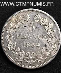 ,5,FRANCS,ARGENT,LOUIS,PHILIPPE,1834,TOULOUSE,