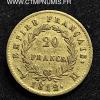 ,20,FRANCS,OR,NAPOLEON,EMPIRE,1812,TOULOUSE,
