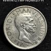 ITALIE 20 LIRE ARGENT VICTOR EMMANUEL 1927 VI