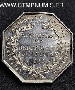 ,JETON,ARGENT,ASSURANCES,LIMOGES,1841,