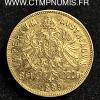 AUTRICHE 8 FLORIN 20 FRANCS OR 1889
