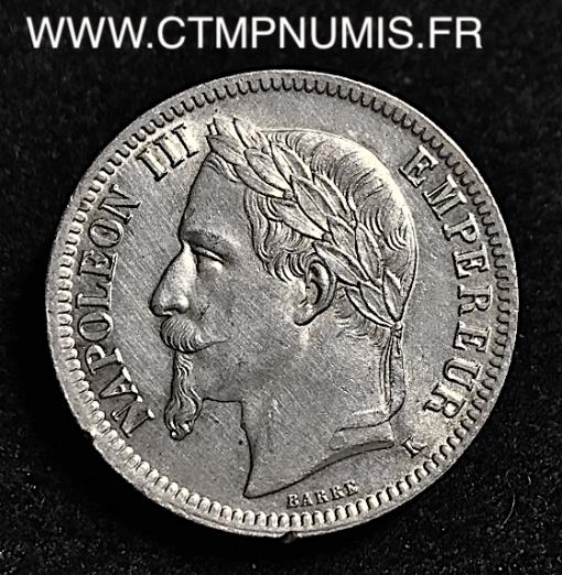 1 FRANC ARGENT NAPOLEON 1866 K BORDEAUX