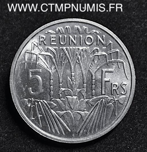 ILE DE LA REUNION 5 FRANCS ALU 1955 SPL
