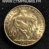 20 FRANCS OR COQ 1899 SUP