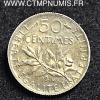 50 CENTIMES SEMEUSE 1916 MEDAILLE FAUTEE