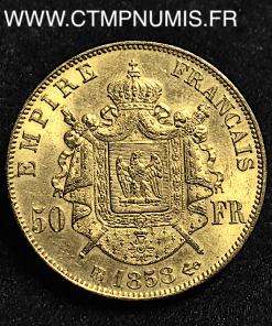 ,50,FRANCS,OR,NAPOLEON,III,1858,STRASBOURG