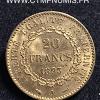 20 FRANCS OR GENIE 1893 A PARIS