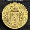 20 FRANCS OR LOUIS XVIII HABILLE 1815 W LILLE
