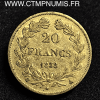 20 FRANCS OR LOUIS PHILIPPE I° DOMARD 1838 A