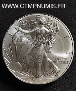 USA 1 ONCE DOLLAR ARGENT FIN LIBERTY 2015