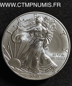 USA 1 ONCE DOLLAR ARGENT FIN LIBERTY 2016
