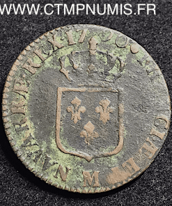 LOUIS XVI SOL BRONZE 1790 M TOULOUSE