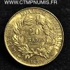 20 FRANCS OR CERES II° REPUBLIQUE 1850 A PARIS