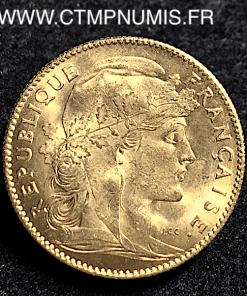 10 FRANCS OR COQ 1911 SPL