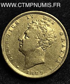 GRANDE BRETAGNE SOUVERAIN OR GEORGES IV 1829