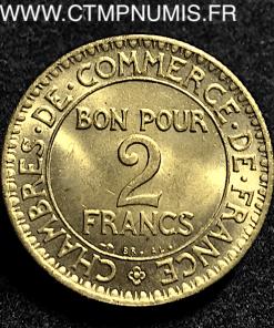 2 FRANCS CHAMBRES COMMERCE DOMARD 1922