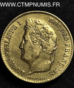 40 FRANCS OR 1831 A PARIS SANS ETOILE