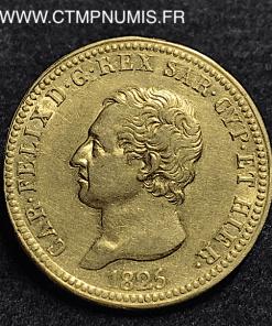 ITALIE SARDAIGNE 40 LIRE OR 1825 TURIN