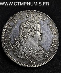 LOUIS XV 1/2 ECU ARGENT AUX 8 L 1725 A PARIS