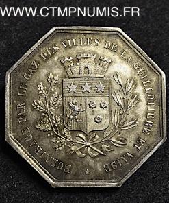 JETON ECLAIRAGE GAZ LA GUILLOTIERE VAISE 1846