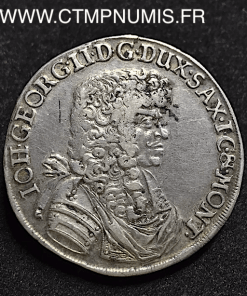 SAXE 2/3 TALER JEAN GEORGES 1676 DRESDE