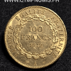 100 FRANCS OR GENIE 1912 A PARIS TTB+