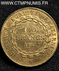 100 FRANCS OR GENIE 1882 A PARIS TTB