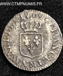 LOUIS XV LIARD VIEILLE TETE 1769 M TOULOUSE