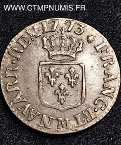 LOUIS XV LIARD A LA VIEILLE TETE 1773 TOULOUSE