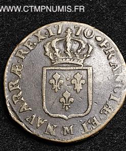 LOUIS XV SOL A LA VIEILLE TETE 1770 M TOULOUSE
