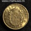 20 FRANCS OR NAPOLEON III 1866 A PARIS SPL