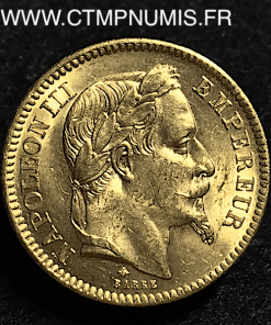 20 FRANCS OR NAPOLEON III 1866 A PARIS SPL