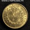 20 FRANCS OR GENIE III° REPUBLIQUE 1876 A PARIS