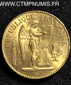 20 FRANCS OR GENIE III° REPUBLIQUE 1877 A PARIS