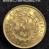 20 FRANCS OR GENIE III° REPUBLIQUE 1879 A PARIS