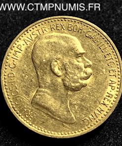 AUTRICHE 10 CORONA OR FRANCOIS JOSEPH 1909