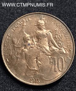 10 CENTIMES DANIEL DUPUIS 1913 SUP+