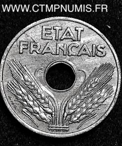 VINGT CENTIMES ZINC ETAT FRANCAIS 1941 TTB+